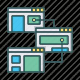 design, prototype, structure, website icon