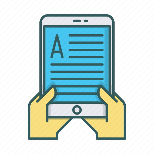 device, ipad, mobile, read, tablet, tablets, text icon