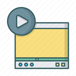 media, play, player, videoplayer, vimeo, youtube icon