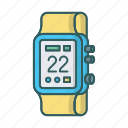 android wear, device, smart, smartwatch, time, watch icon