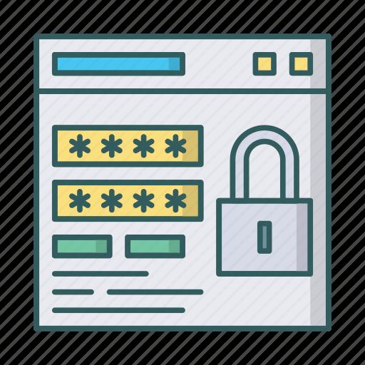 lock, login, password, secure, window icon