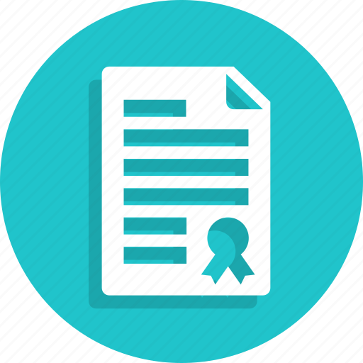 certificate, degree, diploma, education, school, university icon
