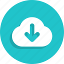 cloud, data, download, server, storage icon