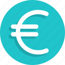 business, currency, euro, finance, money icon