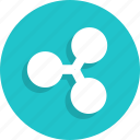 cryptocurrency, currency, finance, ripple icon
