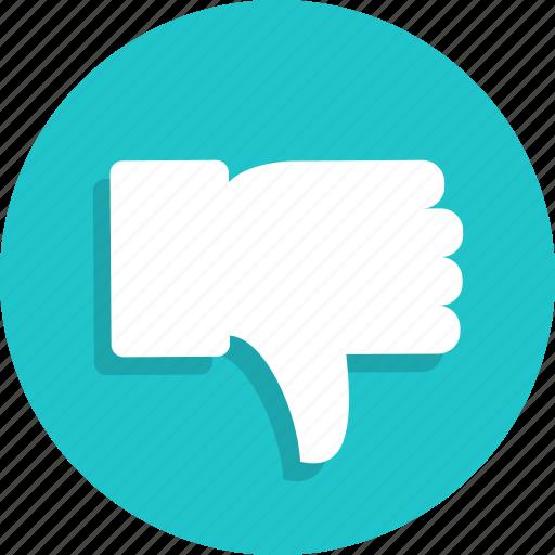 dislike, fingers, gesture, hand, thumb icon