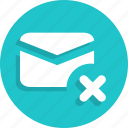 close, delete, email, mail, message icon