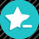 award, dislike, favorite, minus, remove, star icon