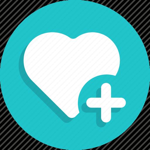Favorite, heart, like, love, plus, valentine, wedding icon - Download on Iconfinder