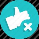 cancel, delete, like, remove icon