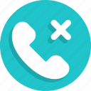 call, communication, contact, delete, phone icon