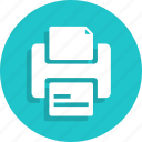document, file, paper, print, printer, printing icon