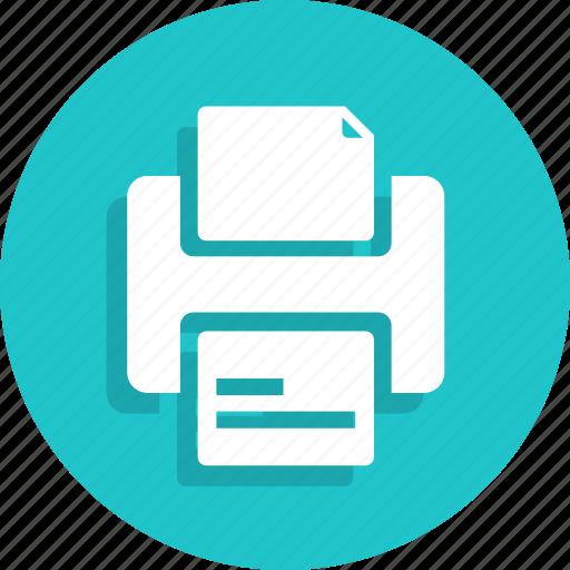 document, file, paper, print, printer, printing icon