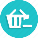 basket, cart, delete, ecommerce, remove, shop, shopping icon