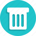 bin, delete, recycle, remove, trash icon