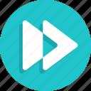 arrow, fast, forward, media, movie, video icon