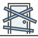 502 error, bad gateway, blocked, door, http code, invalid response, server problem icon