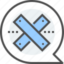chat, conversation, cross, crucifix, dialogue, no comments, notification icon