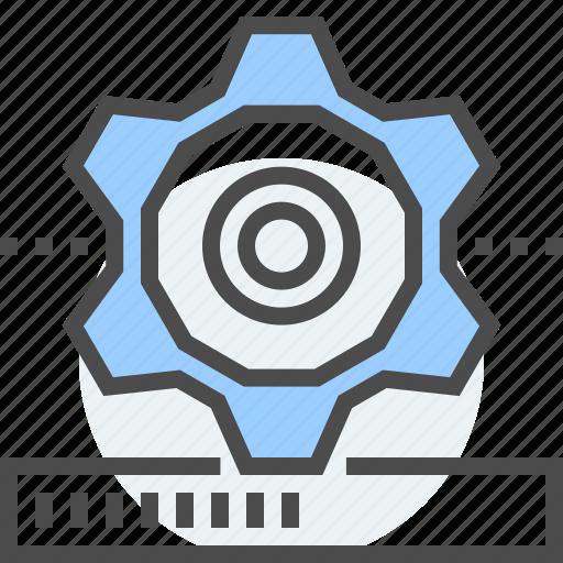 bar, cog wheel, gear, loading, updating, upgrade, upgrading icon