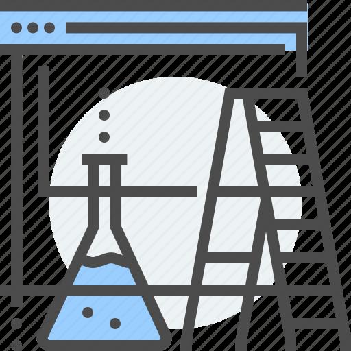 chemistry, development, internet, ladder, page under construction, server, website icon