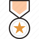 .svg, achievement, award, badge, bravery, medal, star icon
