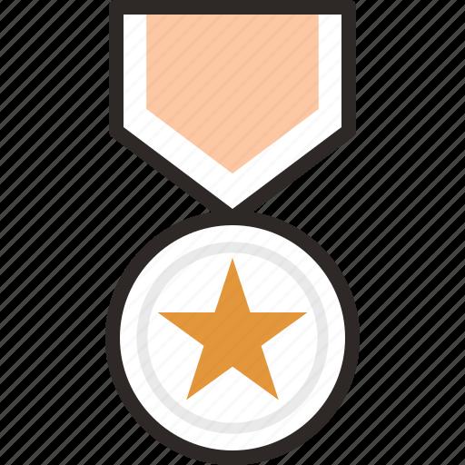 .svg, achievement, award, badge, bravery, medal, star icon