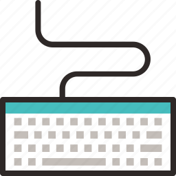 .svg, cable, computer, control, device, input, keyboard icon