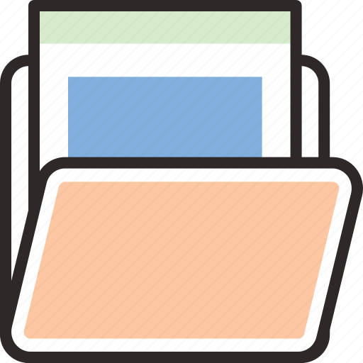 .svg, computer, document, file, folder, folder file, open folder icon