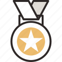 .svg, award, gold medal, medal, star, winner icon