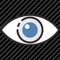 .svg, eye, eye view, look at, visibility, visible icon