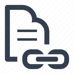 chain, document, file, internet, link, page, send, share, web icon