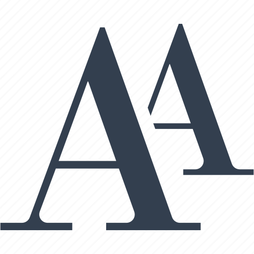 a, format, letter icon