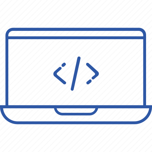 business, code, learn, line, outline, programming, web icon