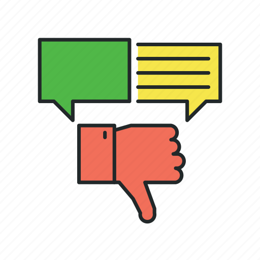 changes, dislike, feedback, negative, opinion, preview, review icon