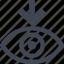 arrow, eye, point, views