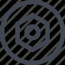 eye, goal, target icon