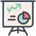 analytics, blackboard, presentation, report, sales, statistics icon