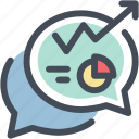 business, chat, discussion, graph, talk icon