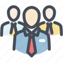 business, crowd, group, leadership, people, team, users icon
