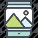 mobile, photo, scan, tech icon