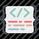 application, brakets, clean, codding, code, development, programming icon