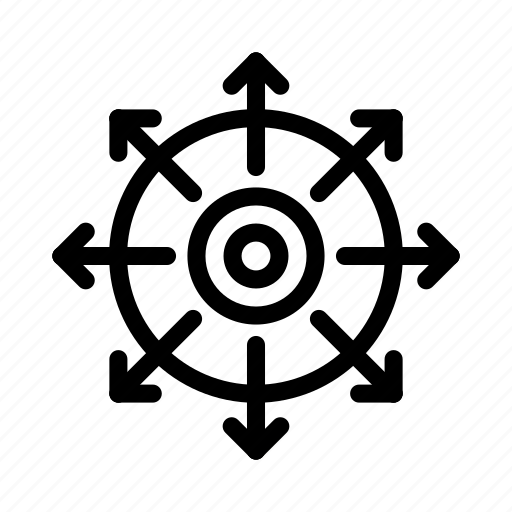 achieve, point, success, target icon
