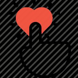 click, heart, like, marketing, pay, per, seo icon