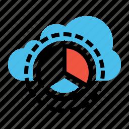 analysis, chart, cloud, data, optimization, report, statics icon