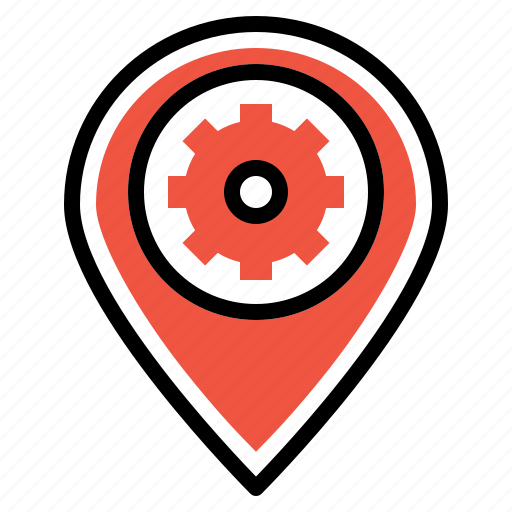 optimization, pin, place, preferences, seo, settings icon