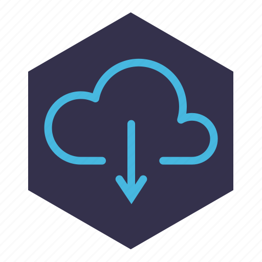 cloud, document, download, downloading, file, storage icon