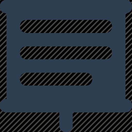 chalkboard, easel, graph presentation icon