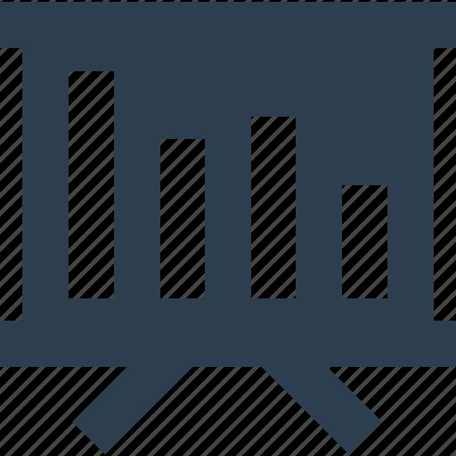 easel, graph presentation, report icon