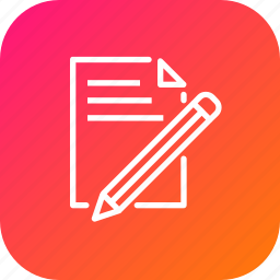 document, drawing, paper, pen, pencil, write icon