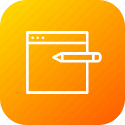 design, edit, pen, pencil, seo, web, window icon